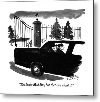 The Banks Liked Metal Print by Donald Reilly