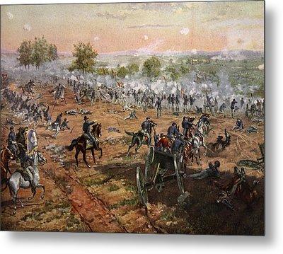 The Battle Of Gettysburg, July 1st-3rd Metal Print
