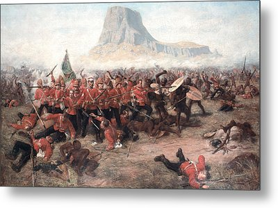 The Battle Of Isandlwana The Last Stand Metal Print by Charles Edwin Fripp