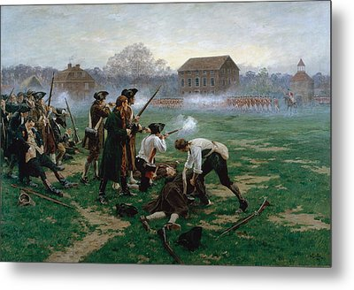 The Battle Of Lexington, 19th April 1775 Metal Print