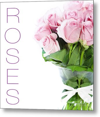 The Beautiful Pink Roses Metal Print by Boon Mee
