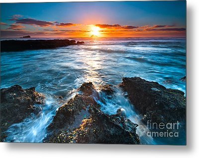 The Beautiful Sunset Beach Metal Print by Boon Mee