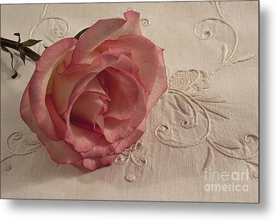 Metal Print featuring the photograph The Beauty Of Just One Rose by Sandra Foster