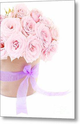The Beauty Pink Roses Metal Print by Boon Mee