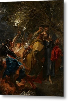 The Betrayal Of Christ Metal Print by Anthony Van Dyck
