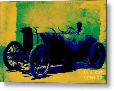 The Blitzen Benz Racer - 20130208 Metal Print by Wingsdomain Art and Photography