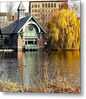 The Boat House Metal Print by Marvin Washington