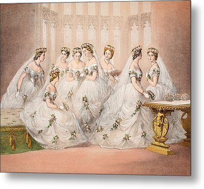 The Bridesmaids, 10th March, 1863 - Marriage Of Edward Vii And Alexandra Of Denmark Metal Print
