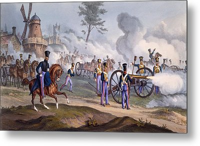 The British Royal Horse Artillery - Metal Print