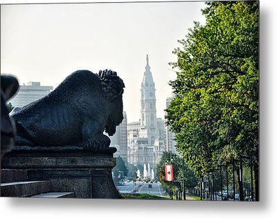 The Buffalo Statue On The Parkway Metal Print