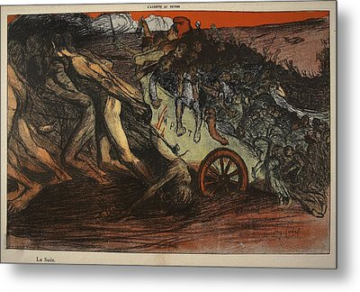 The Burden Of Taxation, Illustration Metal Print by Eugene Cadel