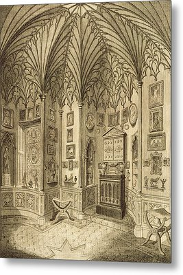 The Cabinet, Engraved By T. Morris Metal Print by English School