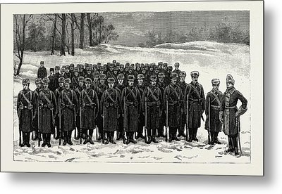 The Cadets In Winter -costume, British Naval Defences Metal Print by Litz Collection