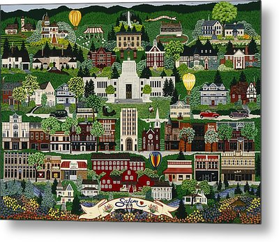 Metal Print featuring the painting The Capitol Salem by Jennifer Lake