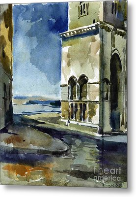 The Cathedral Of Trani In Italy Metal Print by Anna Lobovikov-Katz