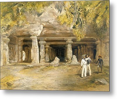 The Cave Of Elephanta, From India Metal Print by William 'Crimea' Simpson