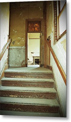 The Chair At The Top Of The Stairs Metal Print
