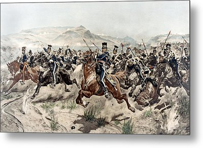 The Charge Of The Light Brigade, 1895 Metal Print