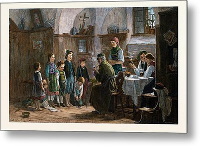 The Children And The Uncle, 1842-1908 Metal Print