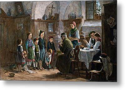 The Children And The Uncle. Studied In Vienna And Munich Metal Print