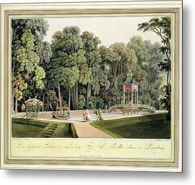 The Chinese Pavilion In The Laxenburg Metal Print by Laurenz Janscha