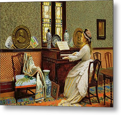 The Chorale Metal Print by John Atkinson Grimshaw