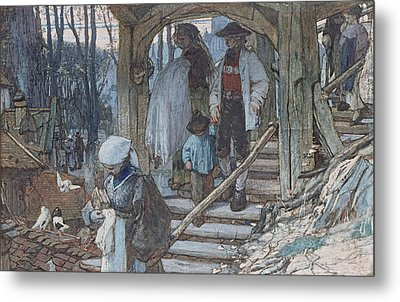 The Christening Gate In Lausanne, C.1861 Metal Print by Matthijs Maris