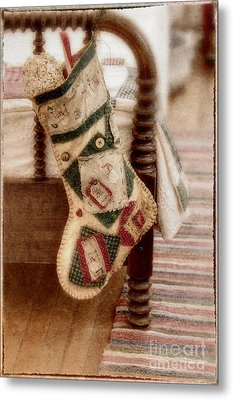 The Christmas Stocking Metal Print by Margie Hurwich
