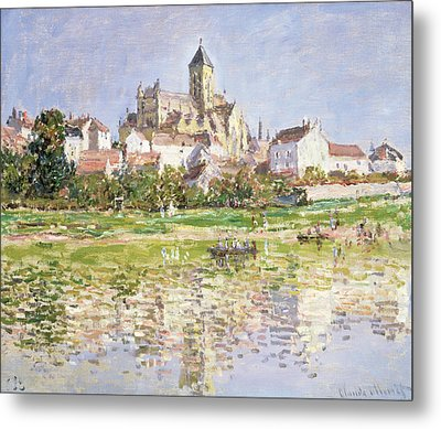 The Church At Vetheuil, 1880 Metal Print by Claude Monet