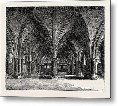 The Church Of St. Faith The Crypt Of Old St Metal Print