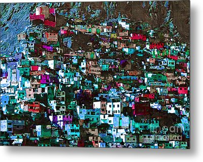 The City On The Hill V1p168 Metal Print by Wingsdomain Art and Photography