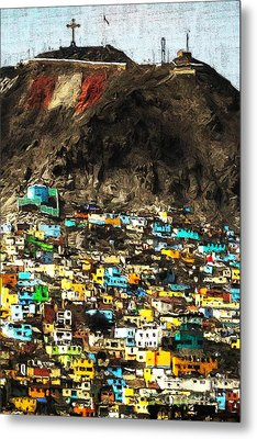The City On The Hill V2 Metal Print by Wingsdomain Art and Photography