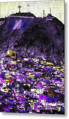 The City On The Hill V2p128 Metal Print by Wingsdomain Art and Photography