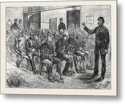 The Clerkenwell House Of Correction The Oakum Shed 1874 Metal Print by English School