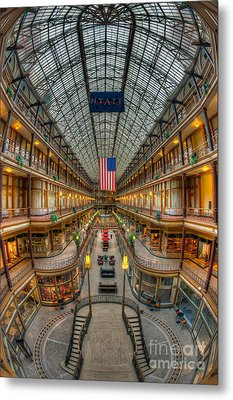 The Cleveland Arcade Vii Metal Print by Clarence Holmes