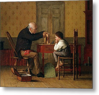 The Clock Doctor, 1871 Metal Print