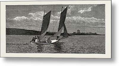 The College Yacht, British Naval Defences Metal Print by Litz Collection