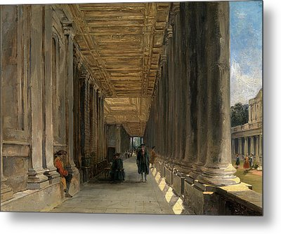 The Colonnade Of Queen Marys House, Greenwich Metal Print