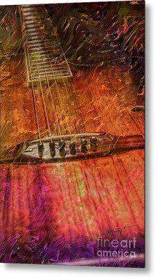 The Color Of Music Digital Guitar Art By Steven Langston Metal Print by Steven Lebron Langston
