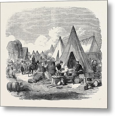 The Commissariat Camp In The Crimea Metal Print