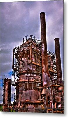 The Compressor Building At Gasworks Park - Seattle Washington Metal Print by David Patterson