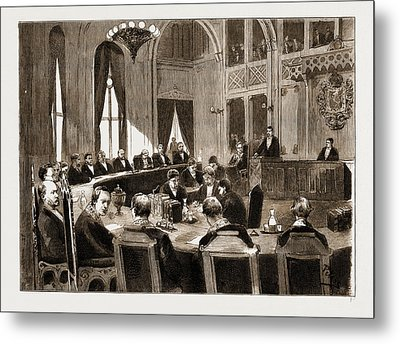 The Constitutional Crisis In Norway, 1883 View Of The Court Metal Print