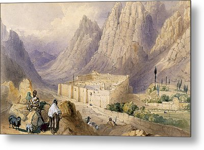 The Convent Of St. Catherine, Mount Metal Print by William Henry Bartlett