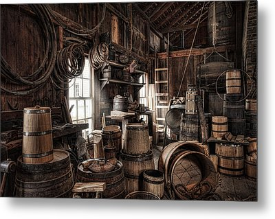 The Coopers Shop - 19th Century Workshop Metal Print by Gary Heller