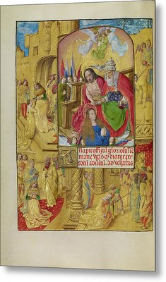 The Coronation Of The Virgin Master Of The Lübeck Bible Metal Print