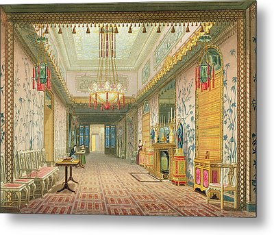 The Corridor Or Long Gallery Metal Print by English School