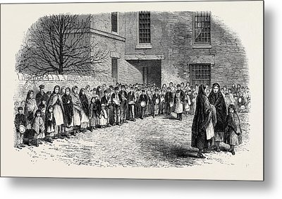 The Cotton Famine Operatives Waiting For Their Breakfast Metal Print by English School