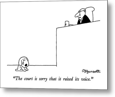 The Court Is Sorry That It Raised Its Voice Metal Print