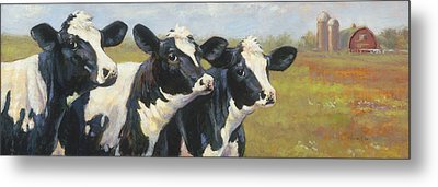 The Cow Girls Metal Print by Tracie Thompson
