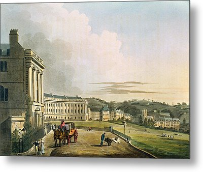 The Crescent, From Bath Illustrated Metal Print